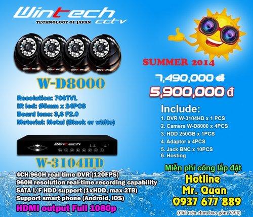 Lắp đặt camera quan sát WinTech khuyến mãi tháng 7