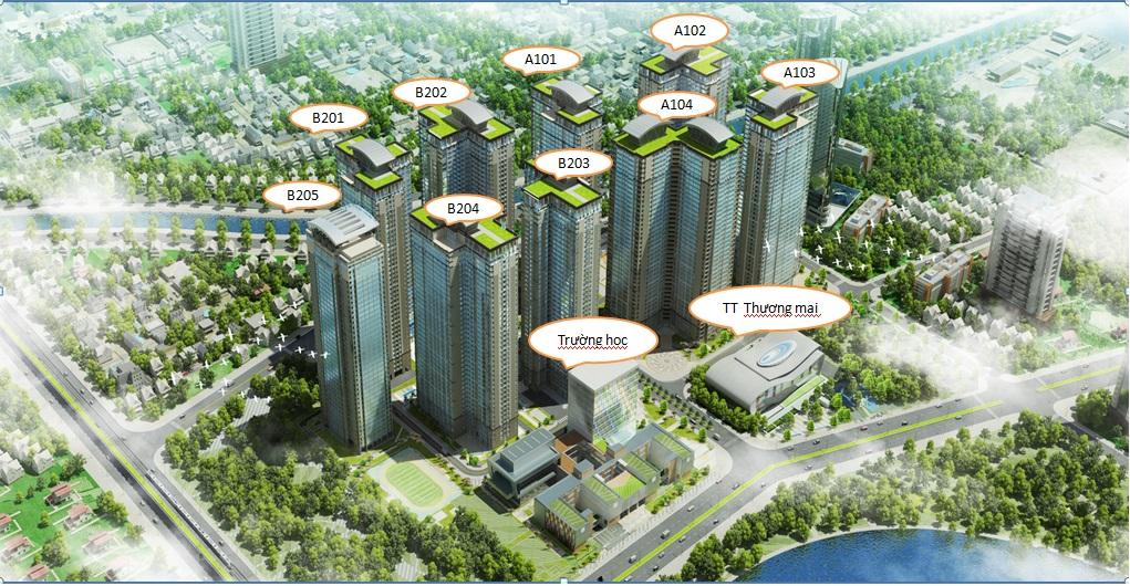 Phối cảnh tổng thể dự án Chung cư goldmark city