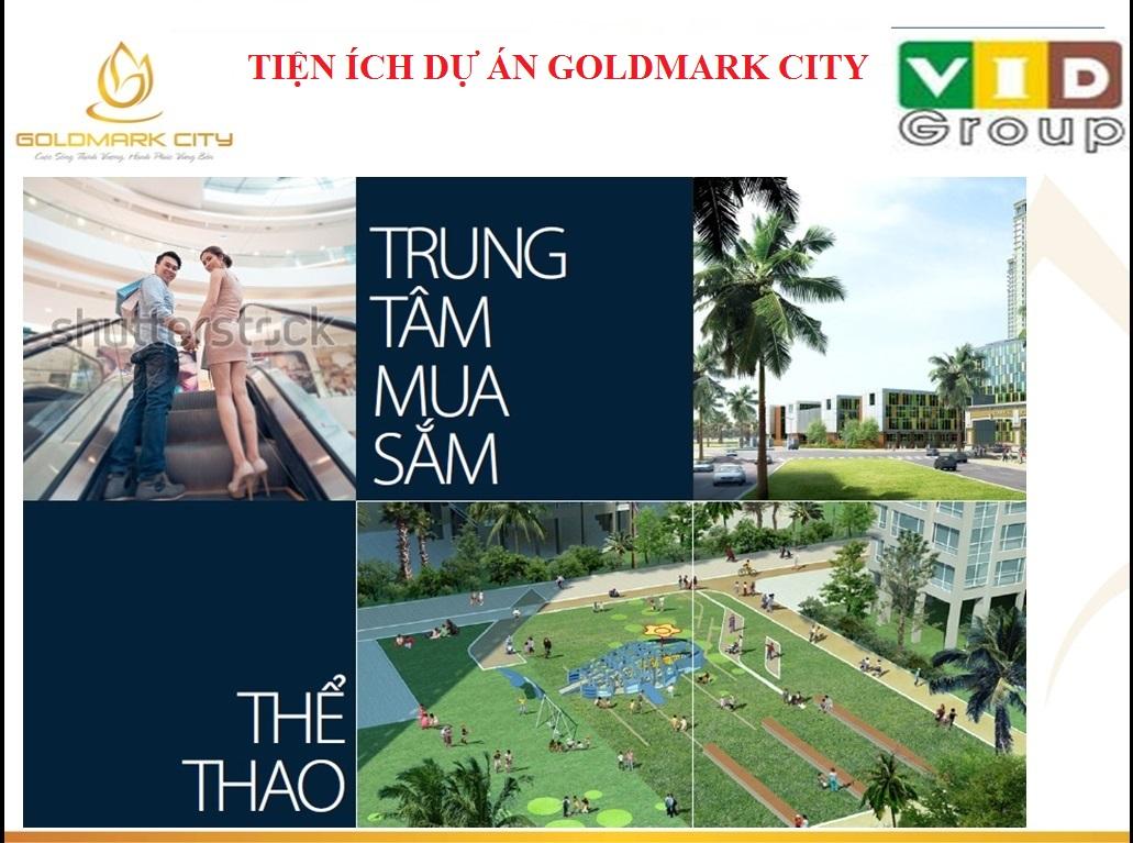 Tiện ích dự án Chung cư Goldmark city