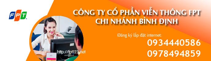 Đăng ký internet FPT tại Bình Định