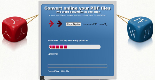 Convert PDF to WORD bước 2