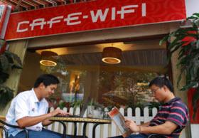 Các quán cafe dùng wifi FPT