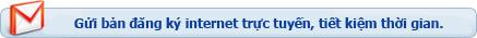 Gửi email đăng ký internet