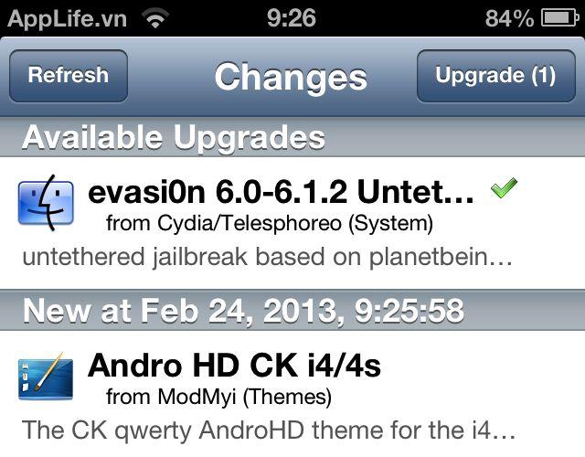 Evasion trên Cydia được nâng lên 0.4 sửa lỗi khởi động cho iPhone/iPad/iPod Touch