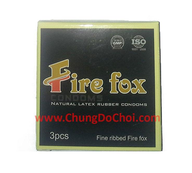 Hộp bao bì sản phẩm bao cao su Fire Fox