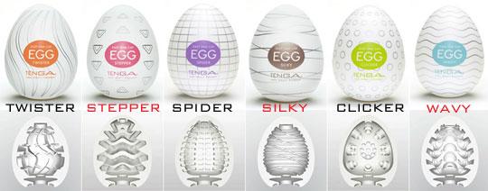 Hình ảnh các mẫu trứng Tenga và kết cấu bên trong