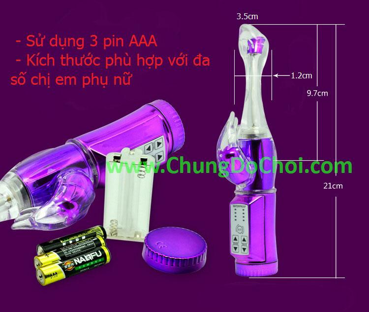 Kích thước sản phẩm và loại pin sản phẩm sử dụng