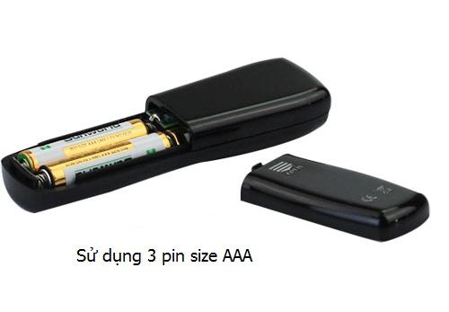 Bộ điều khiển sử dụng 3 pin AAA