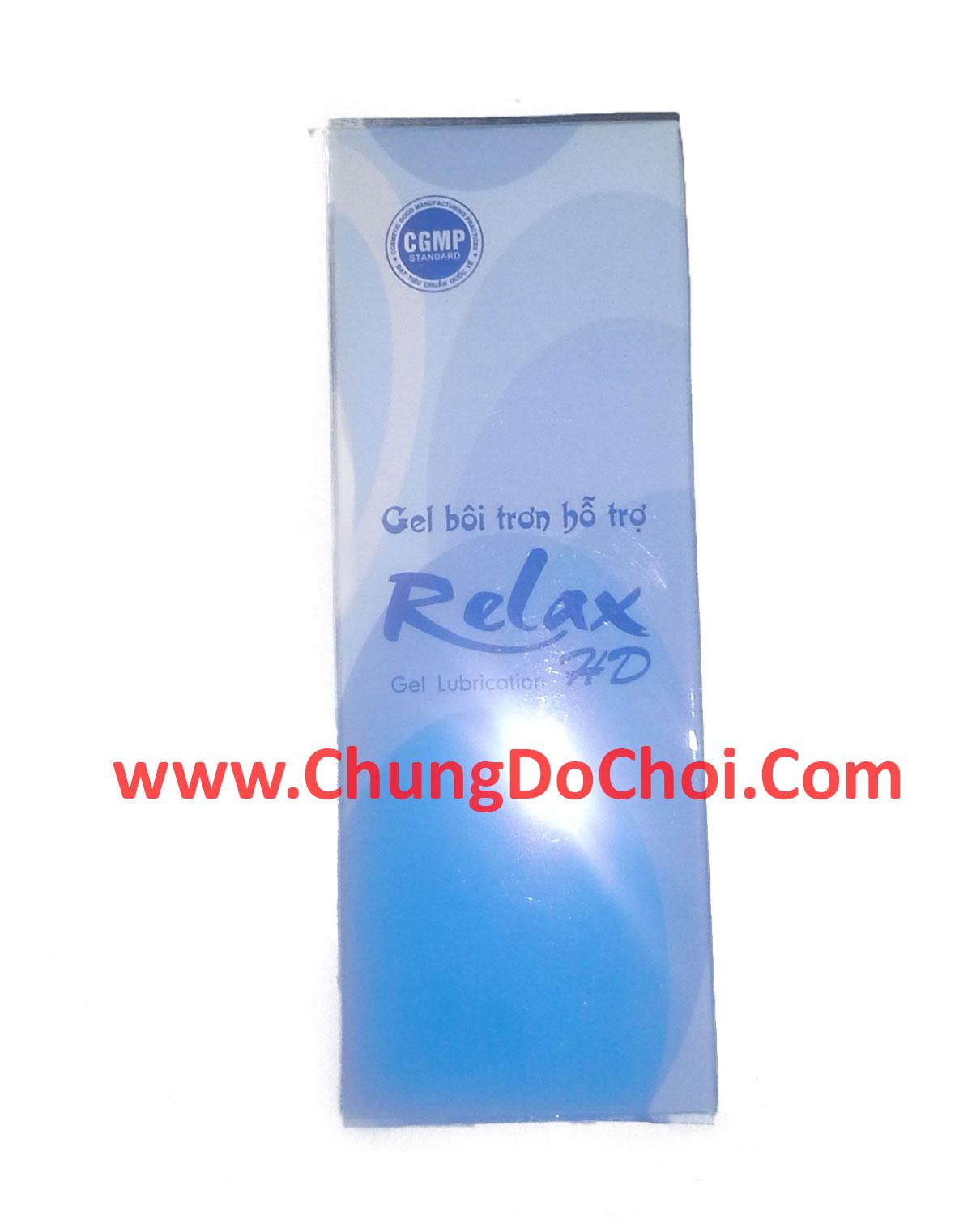 Hộp bao bì sản phẩm gel bôi trơn RelaxHD
