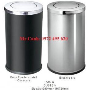 Địa chỉ bán thùng rác Inox có gạt tàn thuốc lá | thùng rác đá hoa cương giá rẻ nhất hà nội