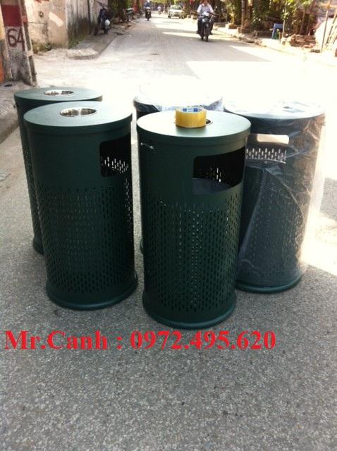 thùng rác ngoài trời, thung rac ngoai troi gia re, ban thung rac ngoai troi