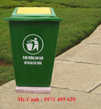Thùng Rác Compostie nắp bập bênh  90 Lít