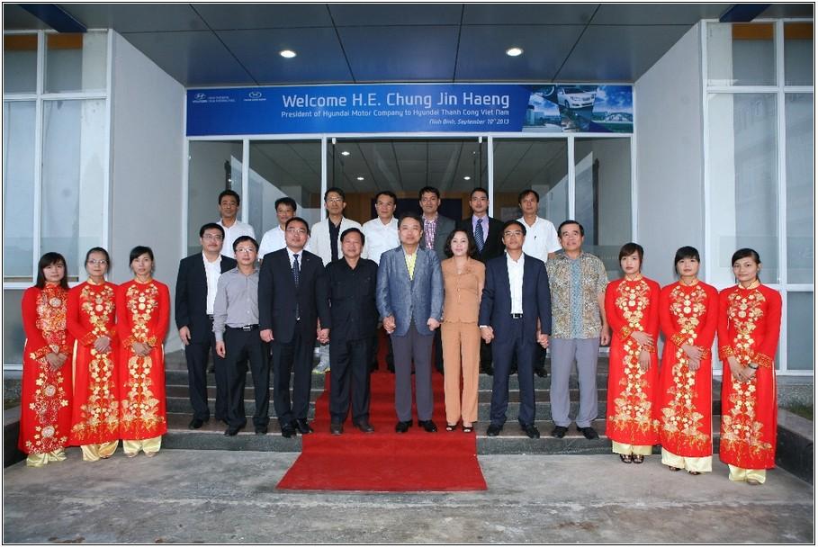 Tổng Giám Đốc tập đoàn Hyundai sang thăm Việt Nam