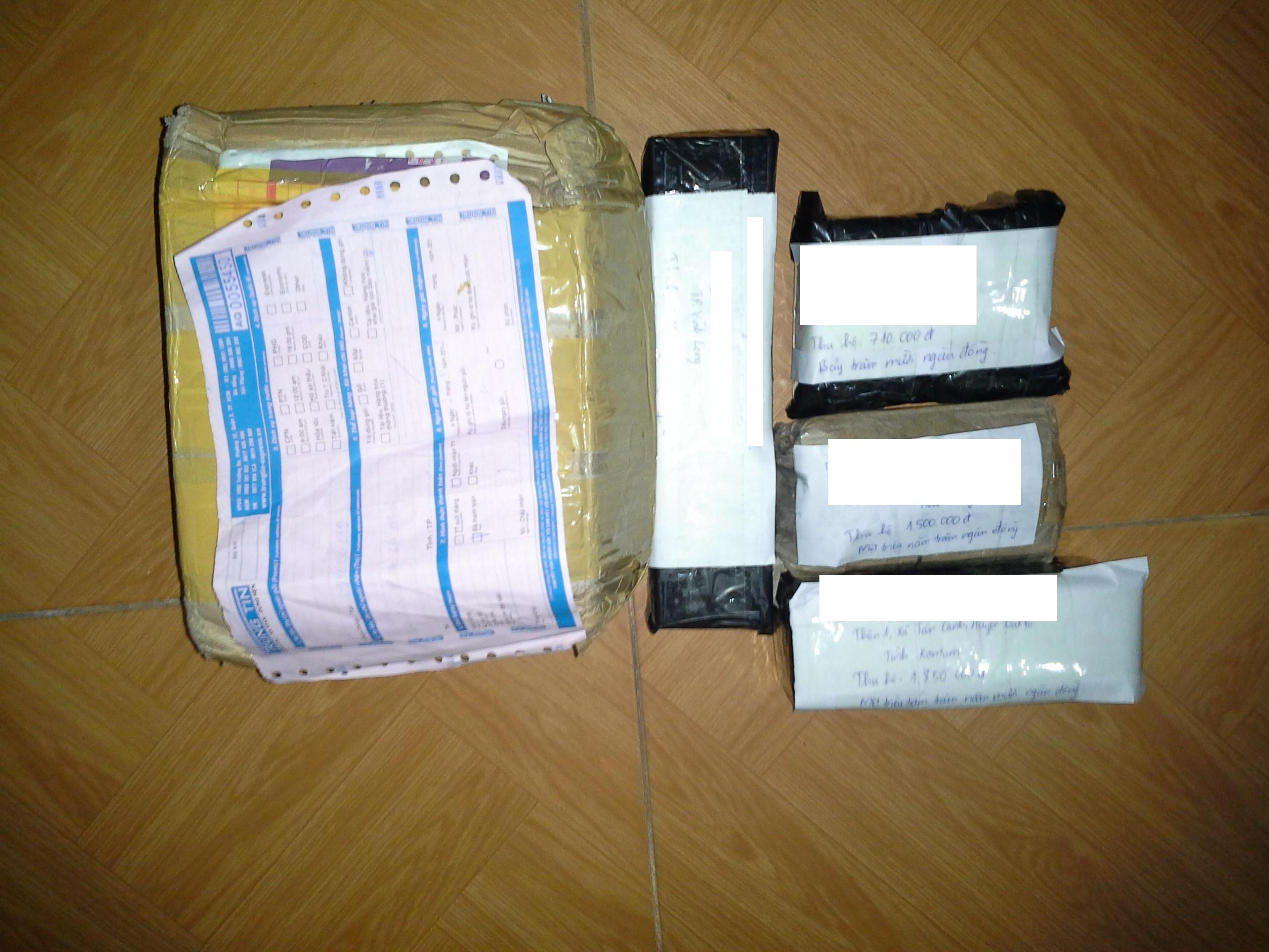 Các gói hàng sẽ được đóng kín và an toàn bên trong