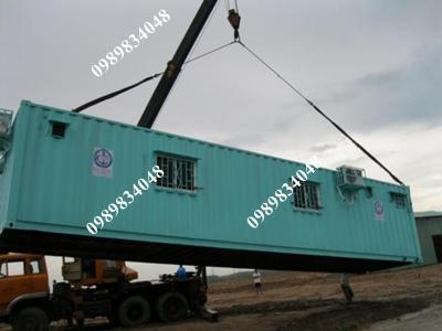 cẩu và vận chuyển container văn phòng