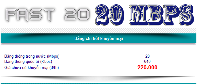 FTTH FAST20 20 MBPS