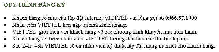 Quy trình đăng ký mạng viettel