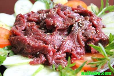 Thịt hươu nướng vĩ thơm ngon bổ dưỡng
