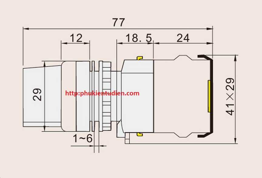 Công tắc xoay cần ngắn LA38-11X2 Công tắc xoay có đèn LA38-11X2 Công tắc xoay tự trả về LA38-11X2