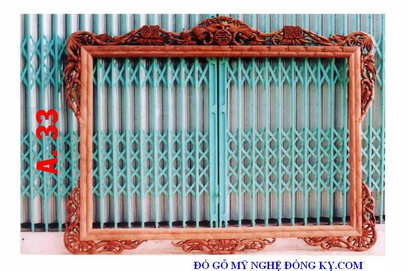 Gương treo tường gỗ đồng kỵ