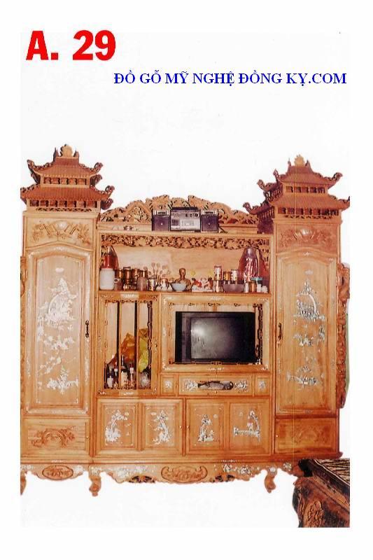Tủ phòng khách gỗ đồng kỵ