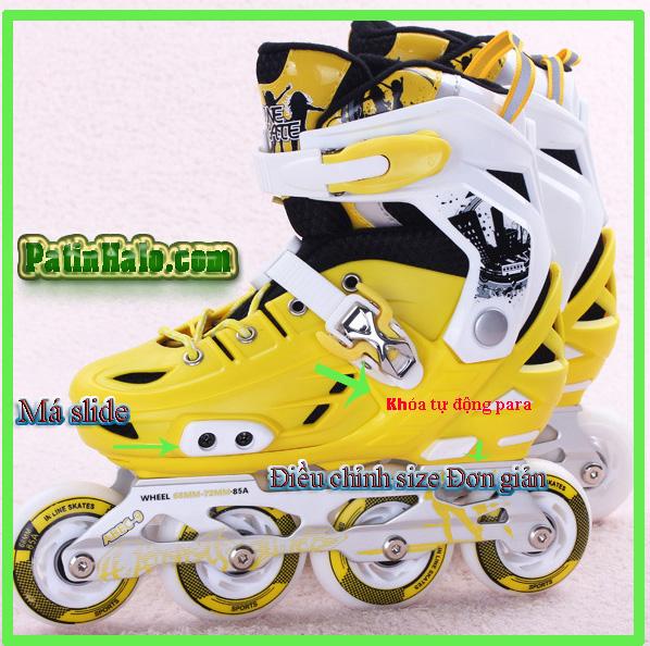 giầy trượt patin happy star vàng 2015