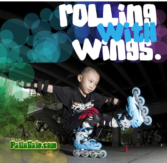 giầy trượt patin trẻ em flying bkb k6