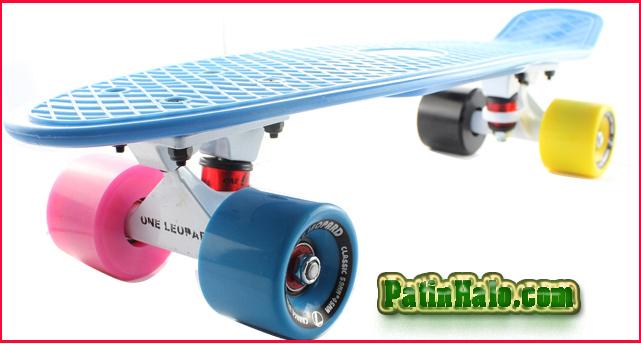 ván trượt penny onleopard xanh bánh 4 mầu