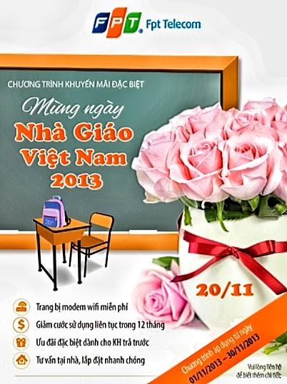 Khuyến mãi ngày Nhà Giáo Việt Nam 20/11 cùng Internet FPT Hà Nội