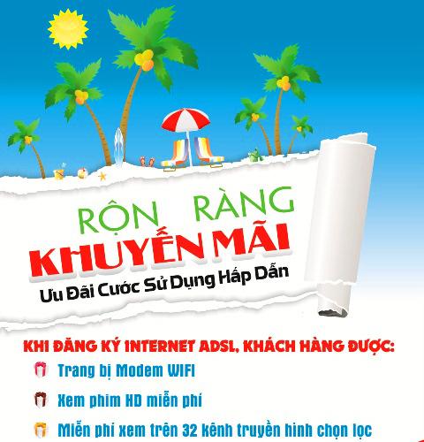 FPT Lâm Đồng khuyến mãi tháng 8/2014