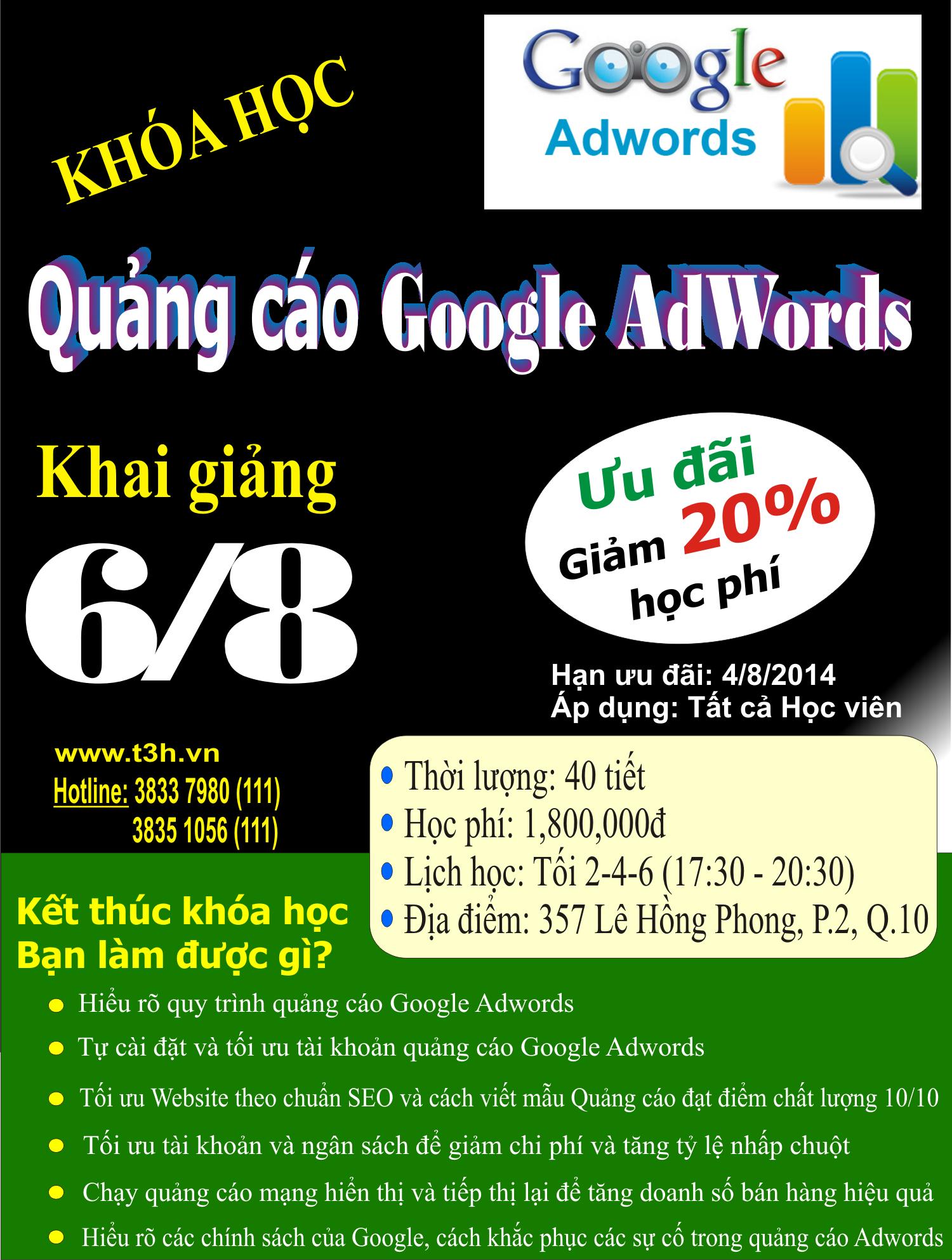Khóa học: Quảng cáo Google AdWords cho Doanh nghiệp