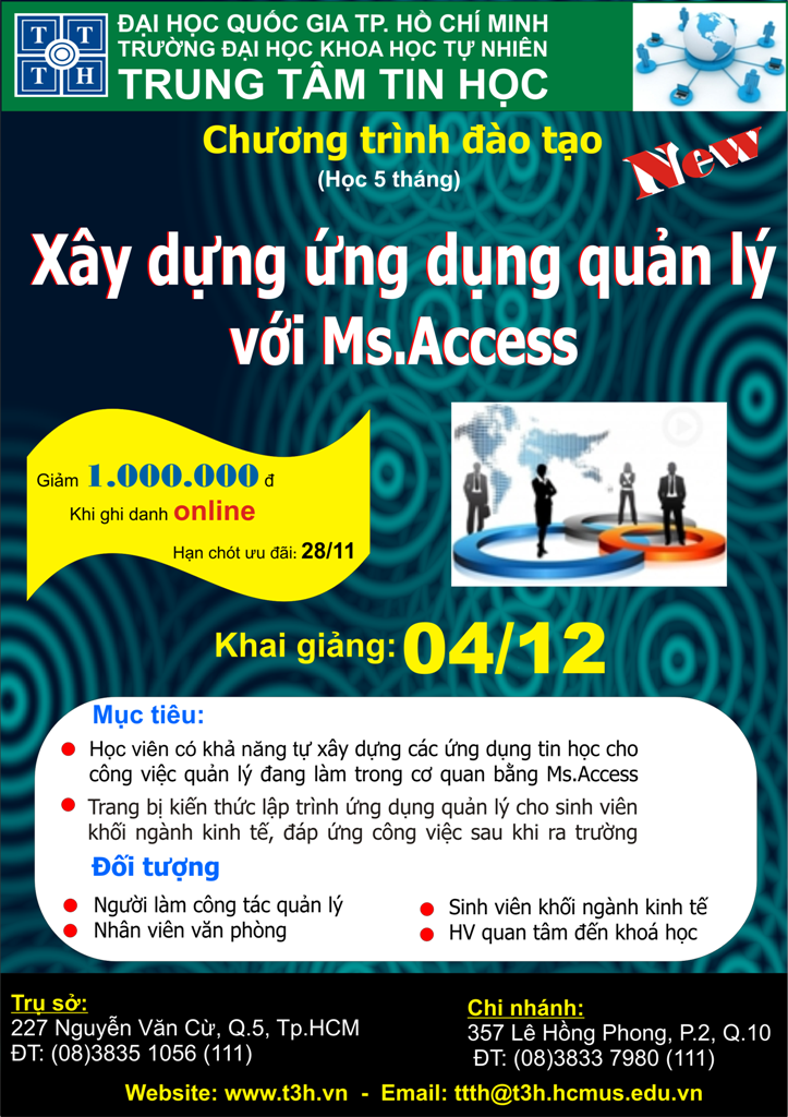 Xây dựng ứng dụng quản lý với Ms.Access