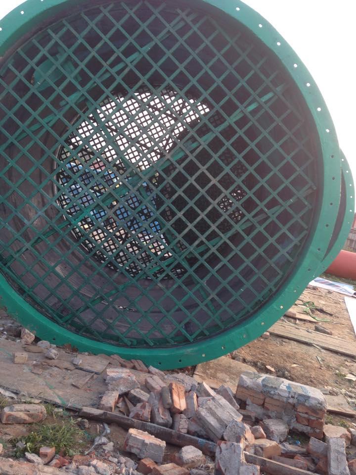 tháp nhiệt được làm từ nhựa composite sợ cốt thủy tinh