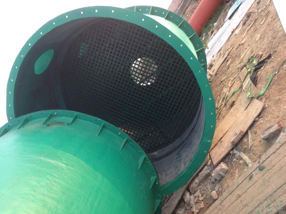 tháp nhiệt composite lắp đặt tại lào cai