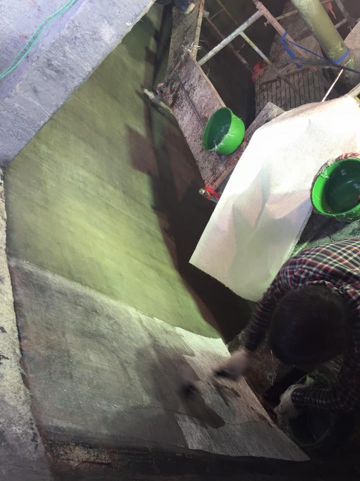 Bọc phủ composite cho bể khuấy tại bắc ninh