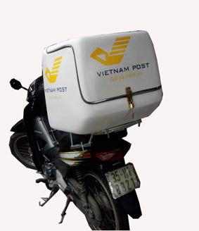 thùng giao hàng sau xe máy
