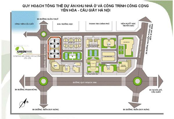Bản đồ quy hoạch dự án Constrexim