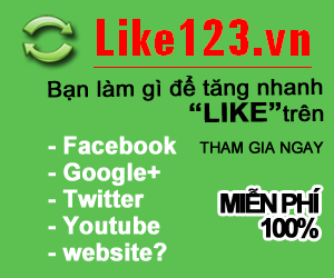 Tăng Like Facebook, photo like, Comment, tăng G+ tại Like123vn.com