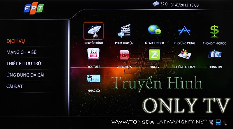 Lắp Truyền Hình FPT Play HD - Tivi Only