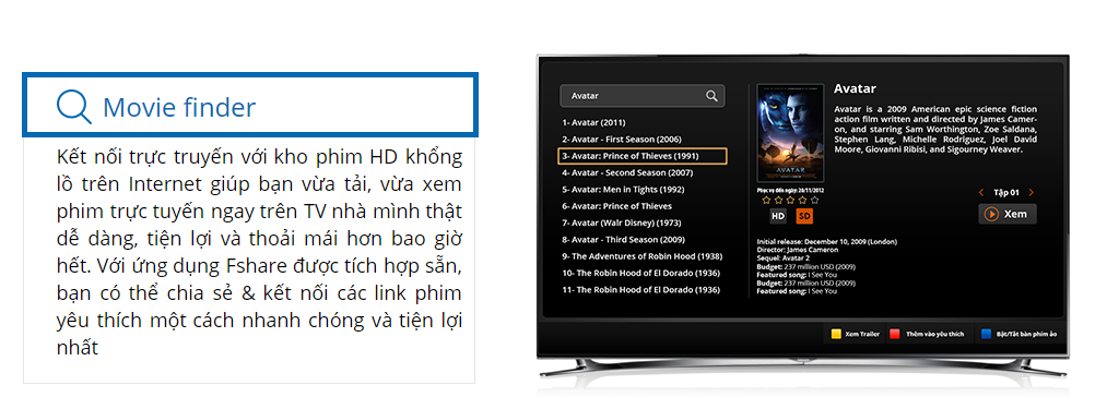 Movie Finder hỗ trợ add links để download