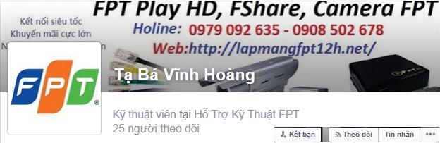 Hỗ trợ trên Facebook