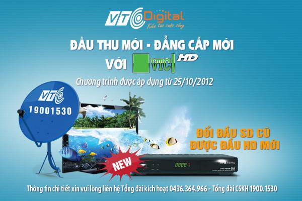 VTC - Đổi đầu cũ, vui đam mê với đầu HD mới