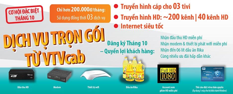 Truyền hình cáp Việt Nam khuyến mãi tháng 10
