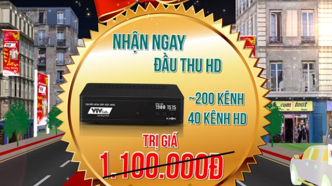 Đón xuân với đầu thu HD miễn phí trị giá 1.100.000đ