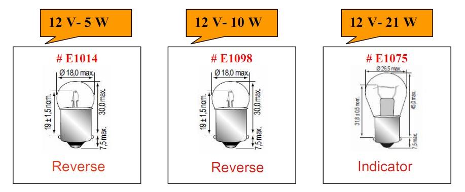 Bóng đèn tròn loại 12V chuyên dùng cho xe nâng hàng