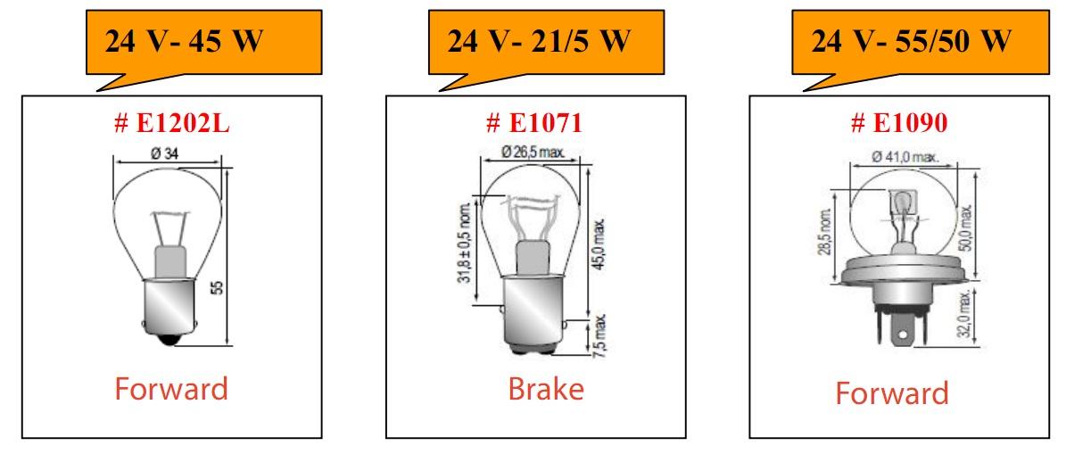Bóng đèn tròn loại 24V cho xe nâng hàng