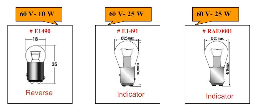 Bóng đèn tròn loại 60V cho xe nâng hàng