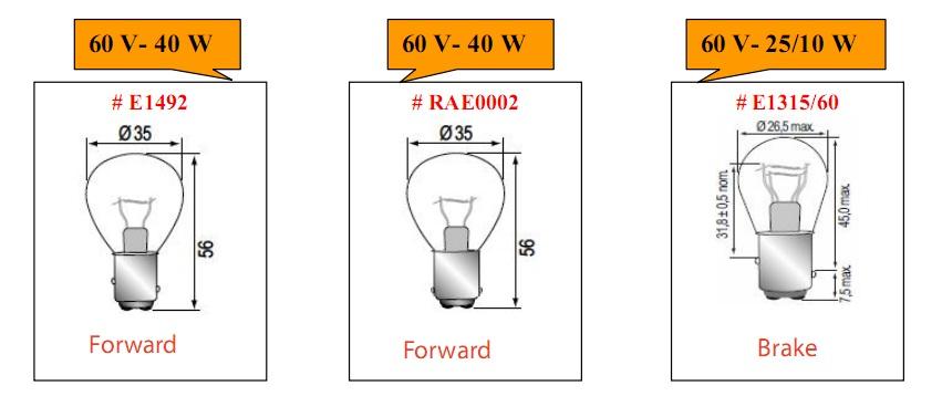 Bóng đèn tròn cho xe nâng hàng loại 60V