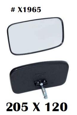 Gương chiếu hậu xe nâng, kích cỡ 205 x 102 mm