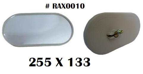 Gương chiếu hậu cho xe nâng kích thước 255 x 133 mm
